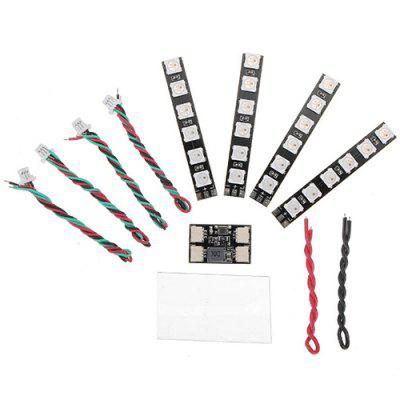 WS2812 LED Strip Light 2 - 6S 7 Color Switchable With LED Controller Board For RC Drone 4 PCS