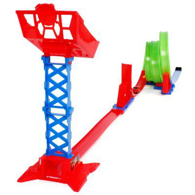 Inertia High Speed Pull Back Car Children's Multi-layer Track Assembly Toy Set