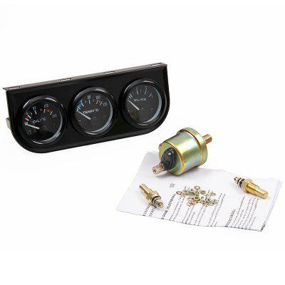 AM072 3 in 1 Oil Pressure Water Temperature Meter