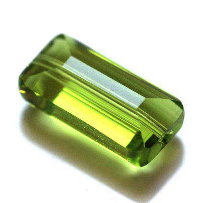 Beautiful Environmentally-friendly Rectangular Crystal Lighting Beads Accessories 20pcs
