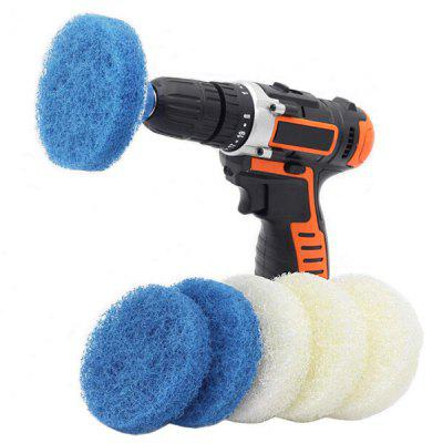 Bathroom Kitchen Electric Drill Cleaning Brush Electric Tool Cleaning Sponge Brush 7PCS