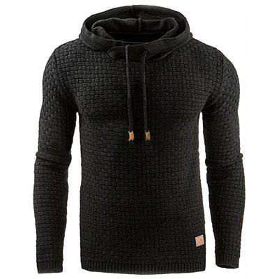 Men Leisure Hoodie Long Sleeve Fleece