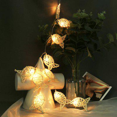 10LED Rattan Small Fish Christmas Day Decoration Light String