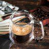 Insulated Double-layer Coffee Glass Cup - TRANSPARENT