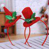 Christmas Party Decoration Flannel Hat Children Headband 2pcs - RED