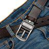 Men's Fashion Casual Leather Jeans Belt - COFFEE