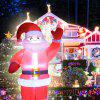 2.4m Electric Inflatable Red Santa Claus With Lights Large Outdoor Christmas Decoration Props - MULTI-A