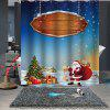 Christmas Prin  Pattern Waterproof Breathable Bathroom Partition Shower Curtain - MULTI-B