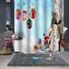 Christmas  Print Pattern Waterproof Breathable Mildew Bathroom Partition Shower Curtain - MULTI-A