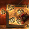 10LED Metal Hollow Silver Love Holiday Decorazione String Light - TRASPARENTE