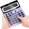 Deli 1529 Voice Crystal Big Button 12 Bit Large Screen Calculator with Battery - GRAY