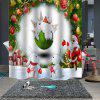 Christmas Print Pattern Waterproof Breathable Mildew for Bathroom Partition Shower Curtain - MULTI-B