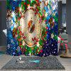 Christmas Print Pattern Waterproof Mildew Breathable Bathroom Partition Shower Curtain - MULTI-A