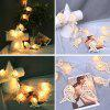 10LED Rattan Small Fish Christmas Day Decoration Light String - WHITE