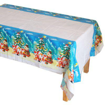 Christmas Tablecloth Disposable PE Plastic