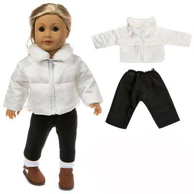 18-calowa symulacja Baby Rebirth Doll Dressing Cotton Jacket Clothing