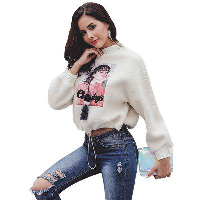 Stitching Plush Pullover Tassel Sweater Short Coat Women's Clothing