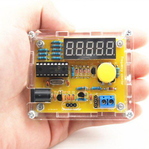 1Hz - 50MHz Frequency Meter Crystal Measurement DIY Kit with Cover
