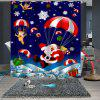 Christmas Print Pattern Bathroom Waterproof Breathable Mildew Partition Shower Curtain - MULTI-A