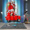 Waterproof Breathable Mildew Bathroom Christmas Print Pattern Partition Shower Curtain - MULTI-A