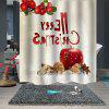 Stylish Christmas Print Pattern Waterproof Breathable Mildew Bathroom Partition Shower Curtain - MULTI-A
