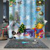Christmas Print Pattern Waterproof Breathable Mildew Bathroom Shower Curtain - MULTI-B