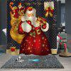 Christmas Print Pattern Waterproof Breathable Partition Shower Curtain - MULTI-A