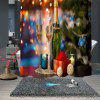 Christmas Print Pattern Waterproof Breathable Shower Curtain - MULTI-A
