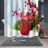 Christmas Print Waterproof Breathable Partition Shower Curtain - MULTI-B