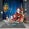 Christmas Print Waterproof Breathable Shower Curtain - MULTI-A