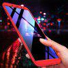 Three-stage 3 in 1 Half Pack Back Cover Anti-fall Protection Phone Case for Samsung Galaxy A6 - RED