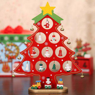 Single Piece Wooden DIY Mini Christmas Decorations