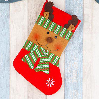 Christmas Stockings High-grade Striped Decorated Children Present Bags