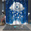 Stylish Christmas Printing Waterproof Breathable Bathroom Partition Shower Curtain - MULTI-A
