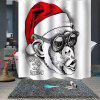 Beautiful Christmas Printing Waterproof Breathable Bathroom Partition Shower Curtain - MULTI-A
