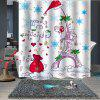 Christmas Printing Waterproof Breathable Bathroom Partition Shower Curtain - MULTI-A