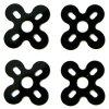 22XX Series Motor Silicone Anti-vibration Pad for RC Drone FPV Racing Drone 4pcs - BLACK