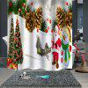 Stylish Christmas Print Waterproof Breathable Bathroom Partition Shower Curtain - MULTI-A
