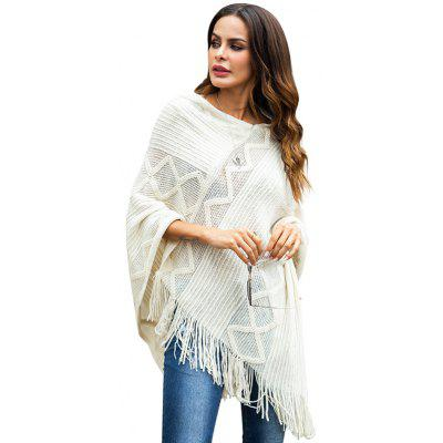 Women Solid Color Sweater Comfortable Loose Shawls