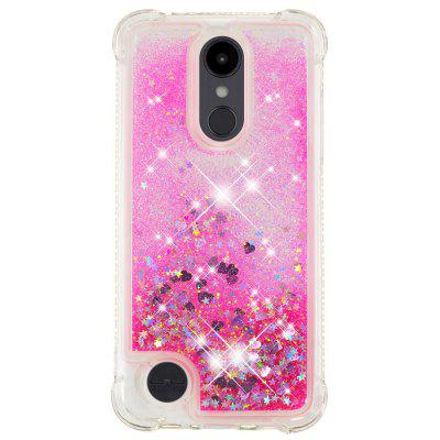 Pink Small Love Full Soft Drop-proof Transparent Protective Case for LG Aristo 2