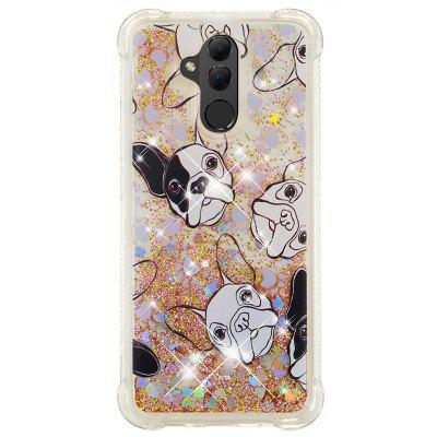 Black White Dog Full Soft Drop-proof Transparent Protective Case for Huawei Mate 20 Lite