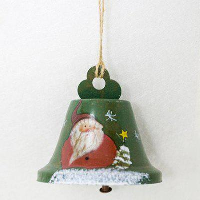 Christmas Decoration Creative Painted Wrought Iron Bell Pendant