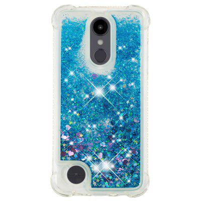 Blue Small Love Full Soft Anti-drop Transparent Protective Shell for LG Aristo 2