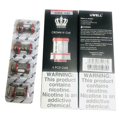 Uwell Crown 4 Coil Head Dual SS904L 0.2ohm 0.4ohm Replacement Atomizer Core