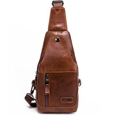Oil Wax Leather Men Pure Leather Cowhide Outdoor Leisure Chest Bag