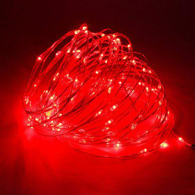 BRELONG 100 LED Outdoor Waterproof USB Copper Wire Lamp Red Light