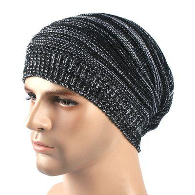 Two-tone Layer Folds Autumn And Winter Warm Set Head Hat