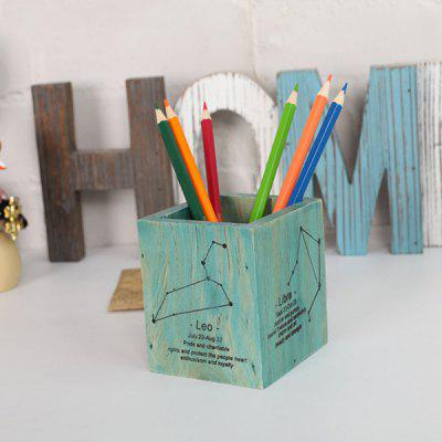 Constellation Solid Wood Storage Pen Holder