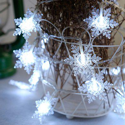 LED Snowflake String Lights Christmas Decorations Creative Layout Lamp