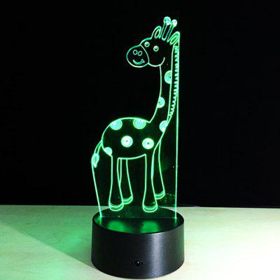 Christmas Deer 3D Colorful Touch LED Visual Lights